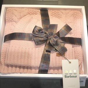 Barbour knit hat and scarf set